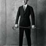 In New York in 1924, Jean Patou poses in one of the eight-odd suits he claimed to own.