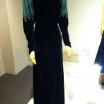 1934 velvet and rayon dinner dress (likely worn by the owner to the local 20-30 Club, a dinner-dance venue.