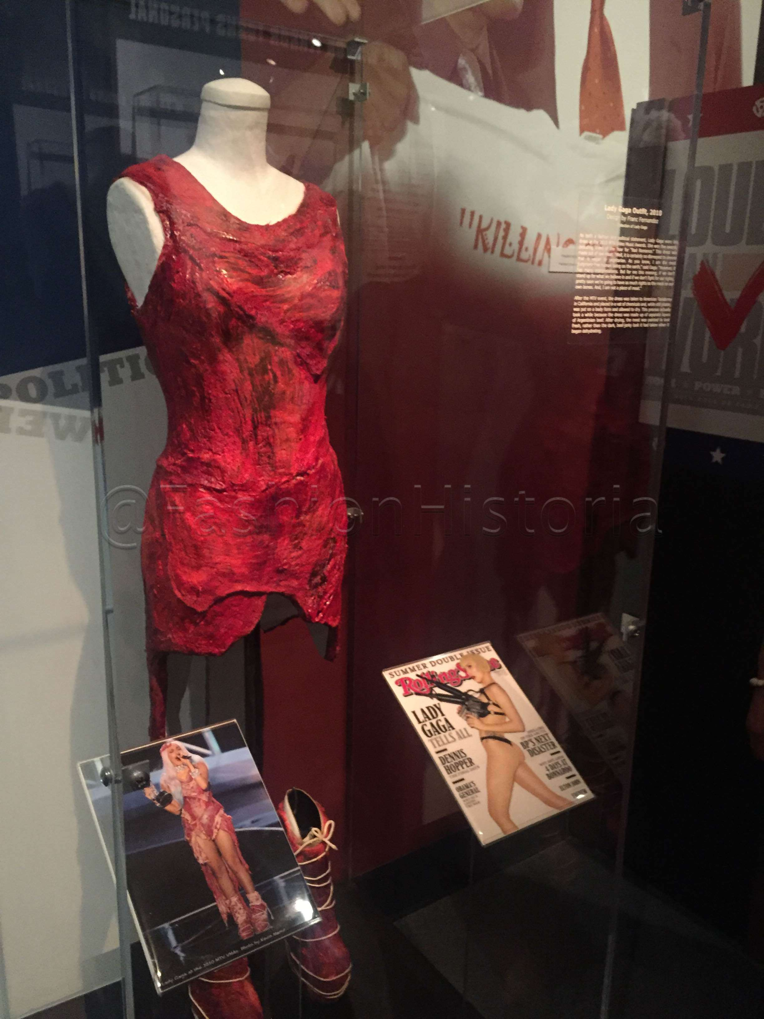 Lady Gaga's meat dress designed by Franc Fernandez