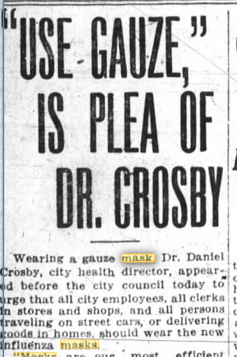 """Use Gauze"" is plea of Dr. Crosby"""